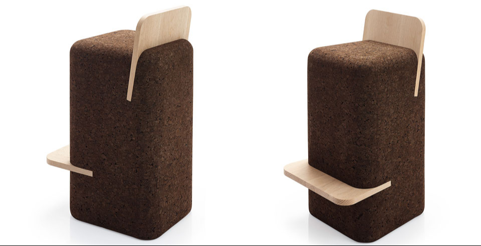 Cut high stool by Toni Grilo for Blackcork