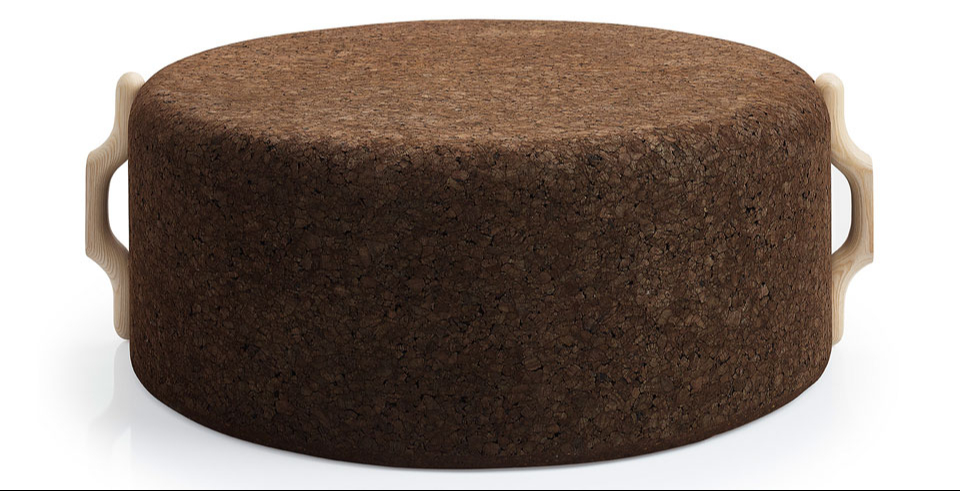 Omega pouf large by Toni Grilo for Blackcork